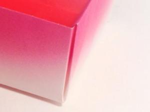 Pink Gradient Origami Box