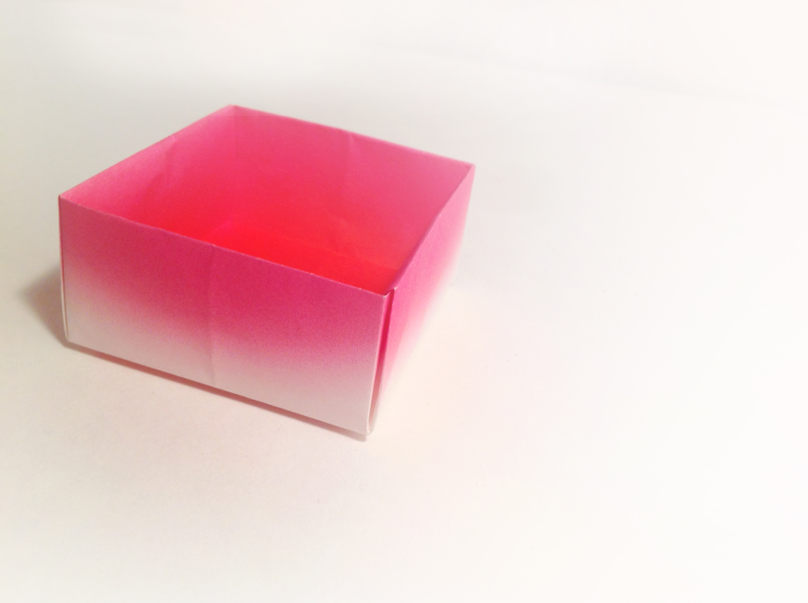 Pink Gradient Origami Box by Carrie Gates