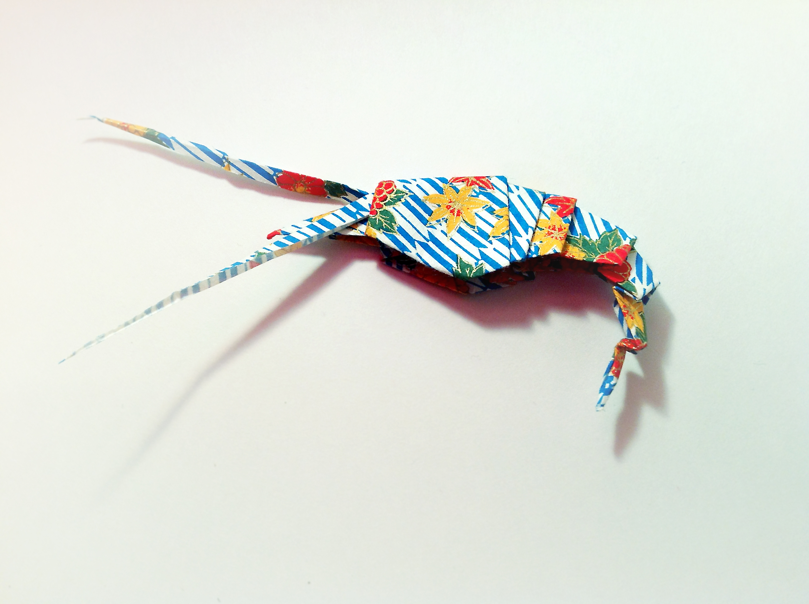 Washi Shrimp Origami by Carrie Gates