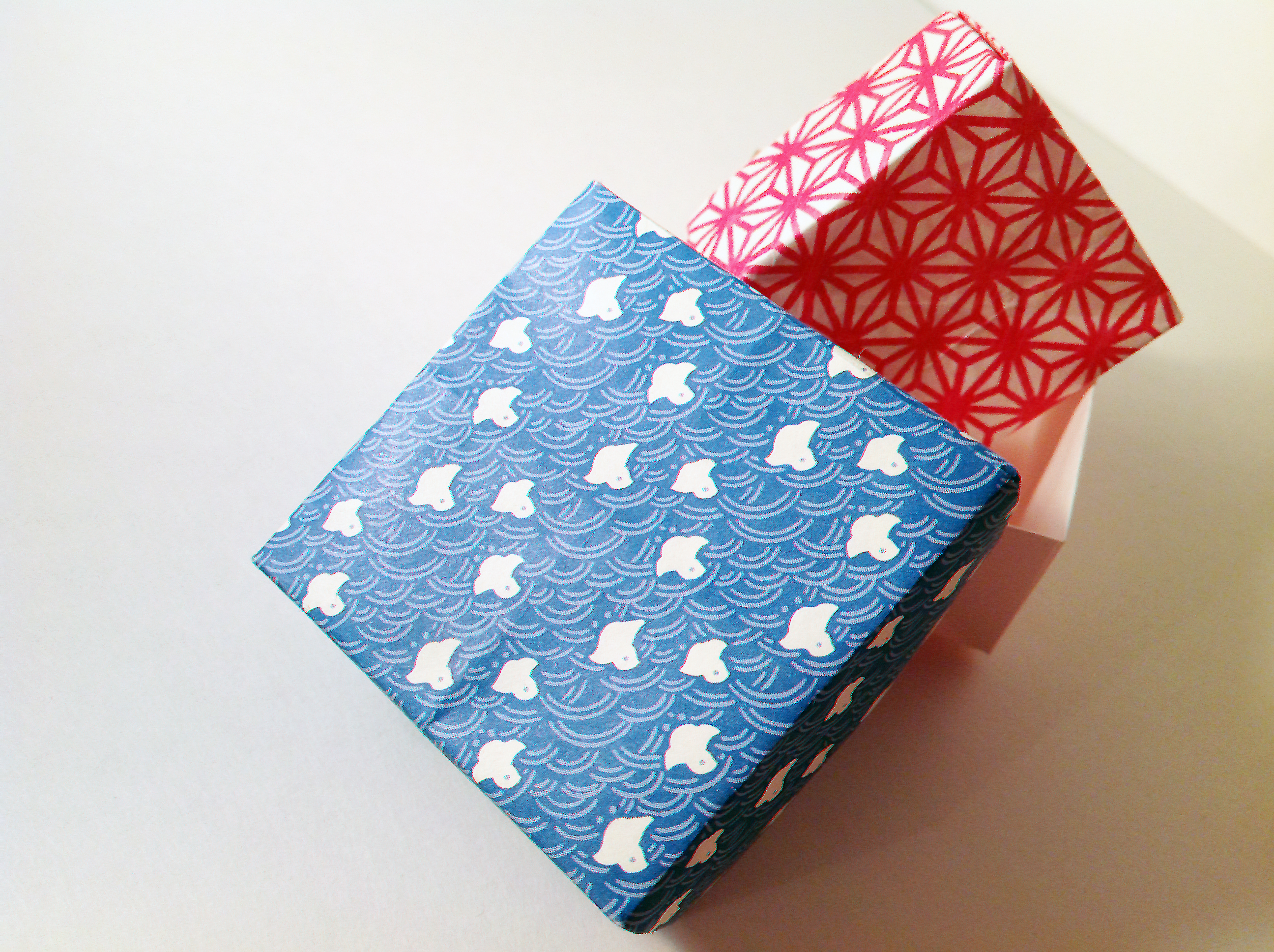 Patterned Washi Origami Boxes by Carrie Gates