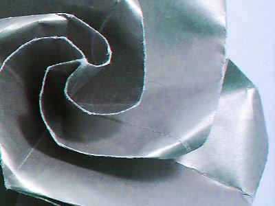 Silver Swirl Rose