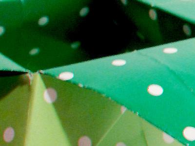 Green Polka Dot Star Shaped Box